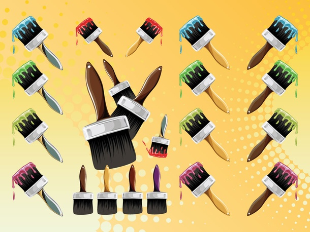 Paint Brush Vectors