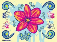 Blooming Vector Flower