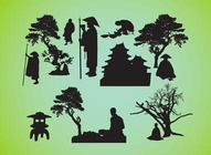 Asian Silhouettes