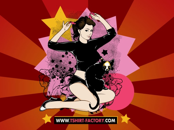 Pin Up Girl Vector