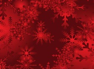 Red Gradient Snow Design