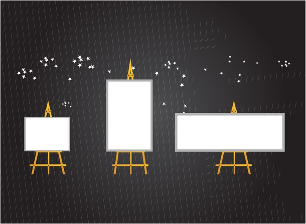 Canvas Stand Vectors