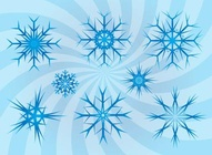Swirling Snow Flakes