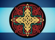 Antique Russian Cross Vector