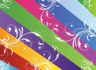 Colorful Lines Flourishes