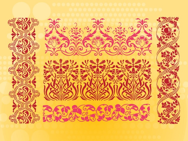 Floral Border Patterns
