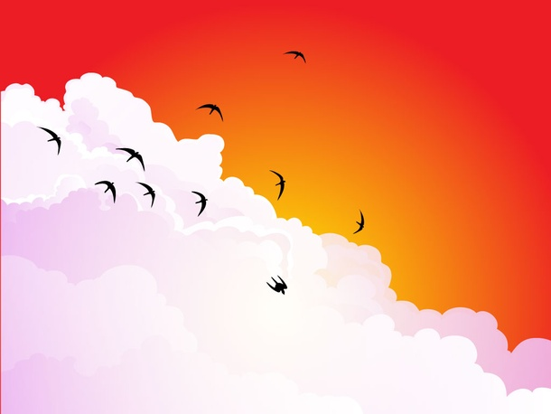 Birds In The Clouds