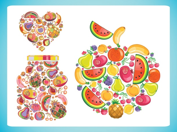 Fruit Shape Vectors