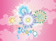 Floral Circles Pink Graphics