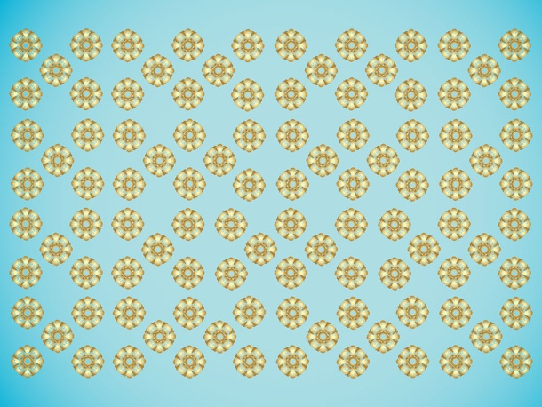 Golden Baroque Pattern