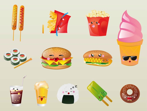 Food Cartoon Characters