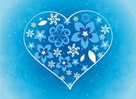 Winter Flower Heart