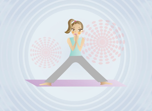 Free Yoga Girl Vector