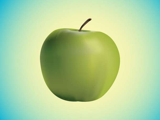 Realistic Green Apple
