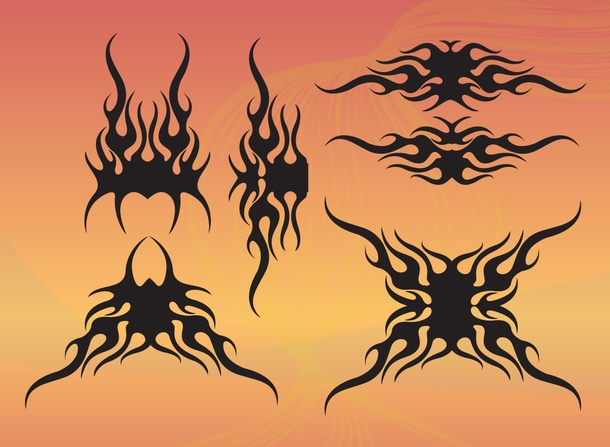 Tribal Flame Shapes
