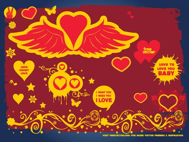 Love Wings Hearts