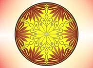 Decorative Symmetrical Circle Design