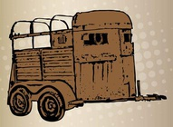 Horse Trailer Illustration