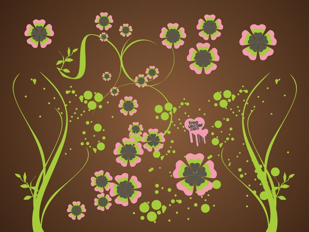 Joyful Flowers background