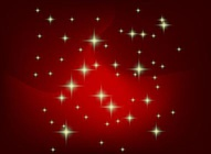 Stars Red Gradient Background