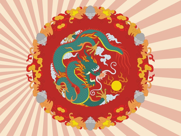 Oriental Dragon Design