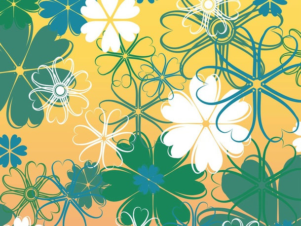 Floral Backdrop Vector Graphics