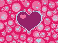 Bubble Hearts Pattern