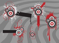 Drips Circles Arrows Vector