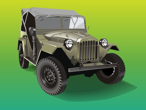 Army Jeep Render
