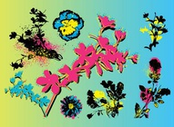 Painted Flowers Vectors
