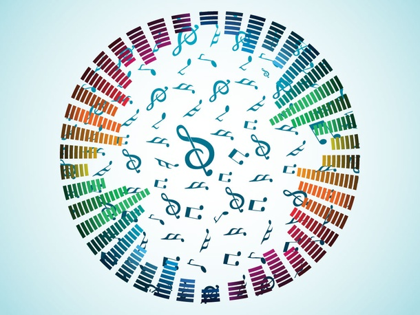 Music Notes Spiral