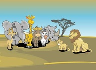 African Animals Cartoons