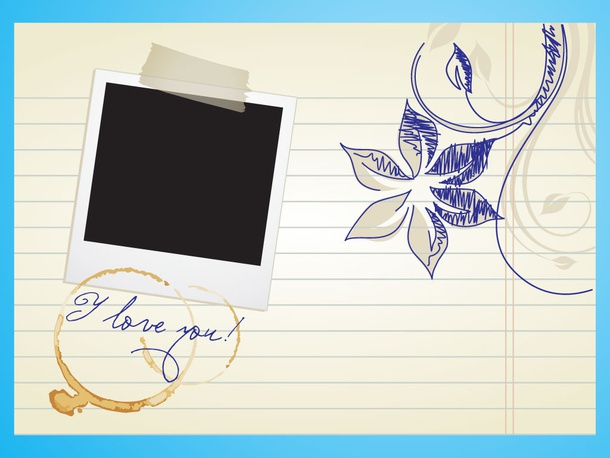 Love Letter Wallpaper Design : Love Letter Template