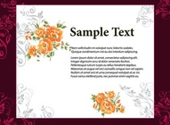 Floral Vector Invitation