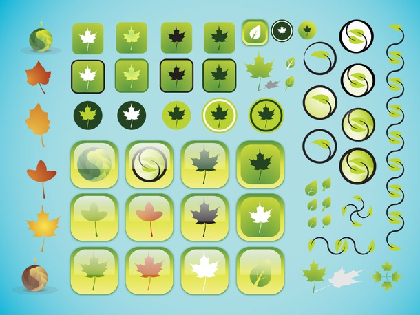Leaf Icon Vectors
