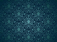 Blue Ornate Vector Pattern