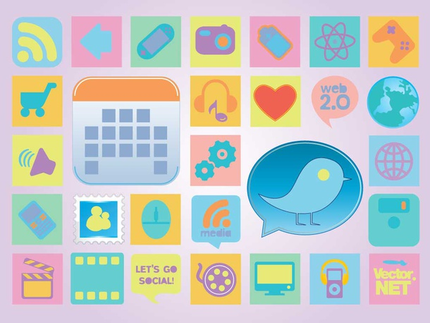 Retro Vector Icons