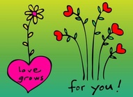 Love Grows Cartoon