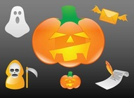 Glossy Halloween Icons