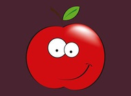 Happy Apple Character