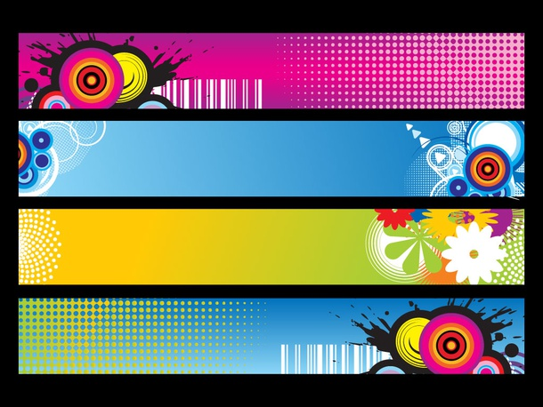 Colorful Vector Headers
