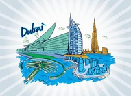 Dubai Vector Illustration