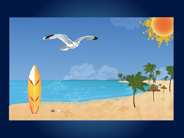 clipart beach scenes - photo #22
