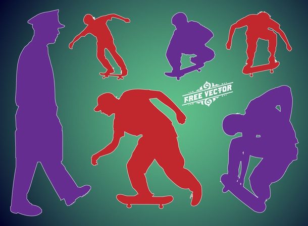 Skate Vector Silhouettes