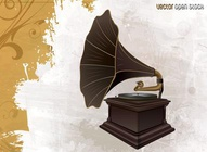 Antique Record Player Design