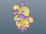 Colorful Swirls Vectors