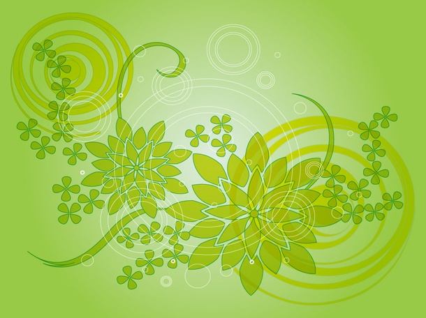 Free Green Floral Background