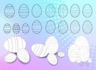 Easter Eggs Line Art