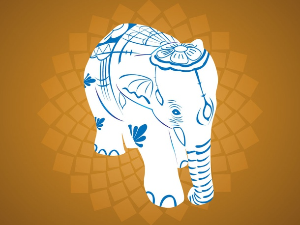 Indian Elephant Design