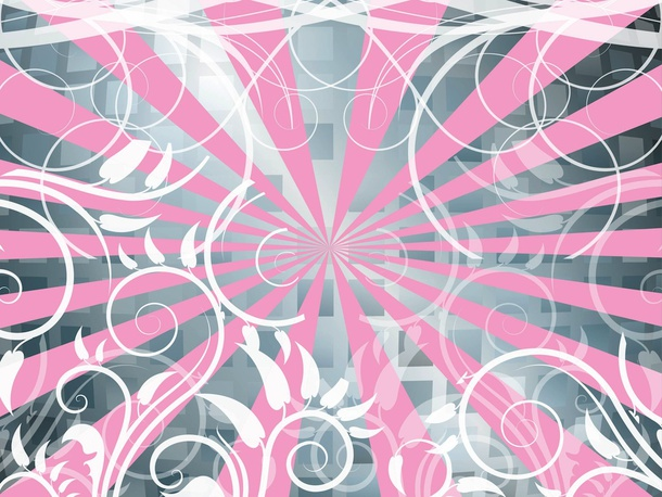 Abstract Flowers Vector Background